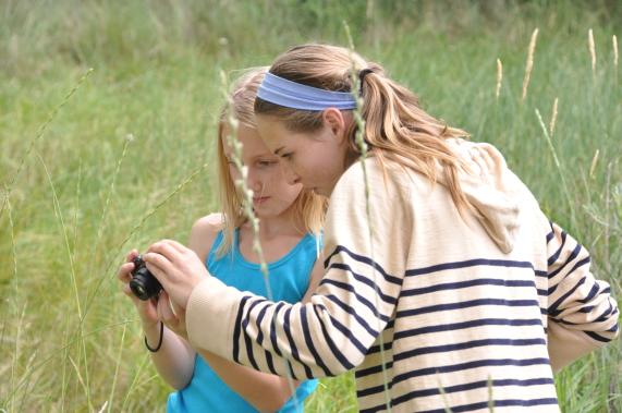 Teaching students in field